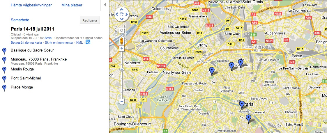 paris områden karta